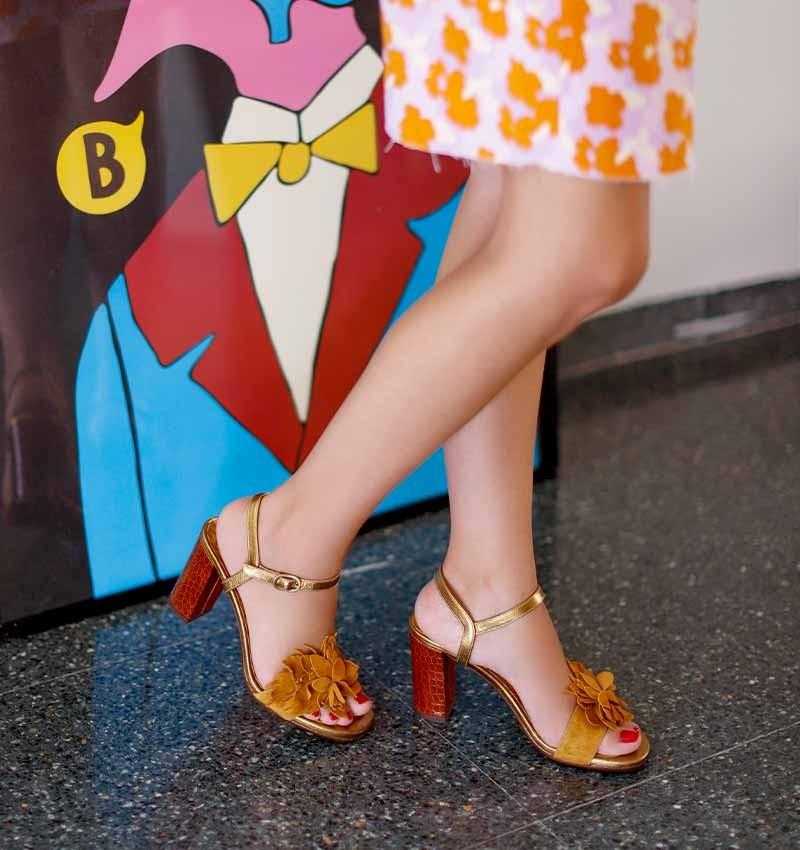 BALITA COGNAC CHiE MIHARA sandals