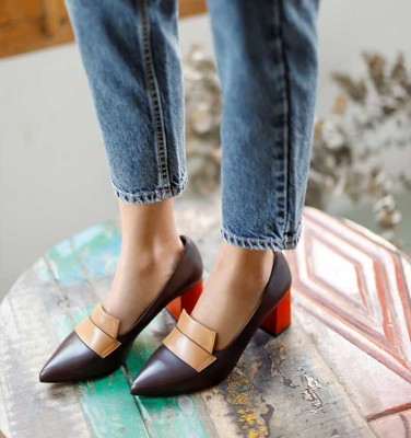 QUATIA BROWN CHiE MIHARA zapatos